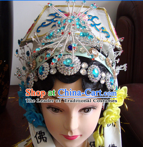 Handmade Ancient Chinese Peking Opera Hairstyles Fascinators Fascinator Wholesale Jewelry Hair Pieces