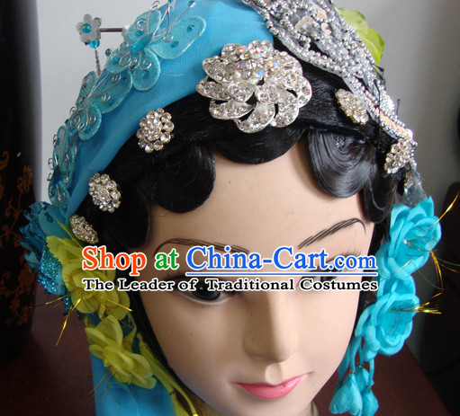 Chinese Opera Theatrical Performances Qin Xiang Lian Hairstyles Fascinators Fascinator Wholesale Jewelry Hair Pieces and Wigs