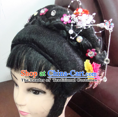 Handmade Ancient Chinese Peking Opera Hua Dan Hairstyles Fascinators Fascinator Wholesale Jewelry Hair Pieces
