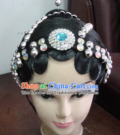 Handmade Ancient Chinese Peking Opera Huang Shan Lei Hua Dan Hairstyles Fascinators Fascinator Wholesale Jewelry Hair Pieces