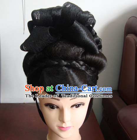 China Stage Performance Li Yugang Hairstyles Long Black Wigs