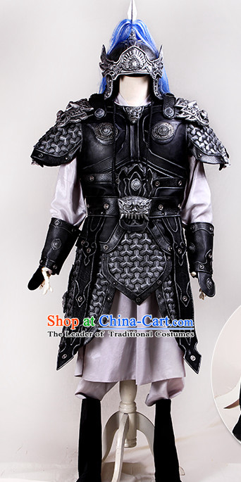 Chinese Ancient Style Body Armor Knight Armor Samural Helmet Complete Set