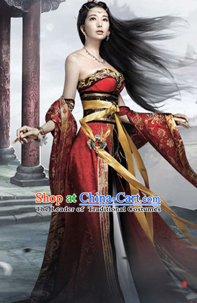 Asian Chinese Ancient Beauty Halloween Costume Cosplay Costumes Complete Set