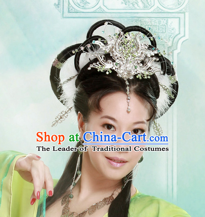 Chinese Ancient Chang Er Wigs Hairpieces Hair Accessories Hair Pieces