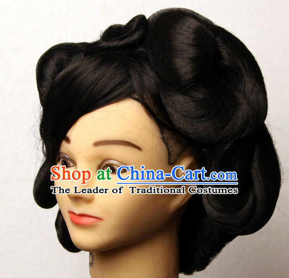 Chinese Ancient Imperial Princess Black Wigs Hairstyles