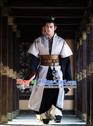 Asian China Han Dynasty General Robes Halloween Costumes for Men
