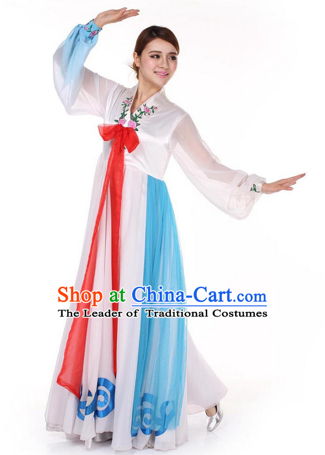 Chinese Korean Ethnic Dance Outfit Costume Wholesale Clothing Group Dance Costumes Dancewear Supply for Girls