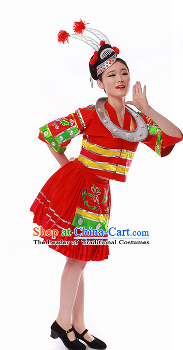 Chinese Folk Minority Dancing Clothes Costume Wholesale Clothing Group Dance Costumes Dancewear Supply for Women