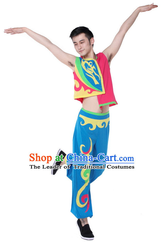 Chinese Folk Dance Costume Wholesale Clothing Group Dance Costumes Dancewear Supply for Men