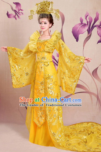 Chinese Shang Dynasty Myth Daji Su Da Ji Fox Spirit Fox Queen Cosplay Costumes Chinese Costume and Hair Accessories Complete Set