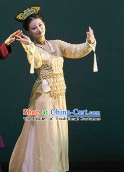 Chinese Shang Dynasty Female Princess Costumes Chinese Costume and Hair Accessories Complete Set