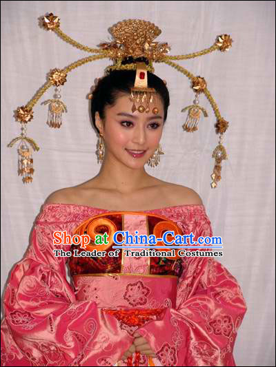Shang Dynasty Myth Daji Su Da Ji Fox Spirit Demon Enchantress Fox Queen Costumes China Costume and Hair Accessories Complete Set