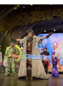 Stage Opera Stone Age King Costume for Men