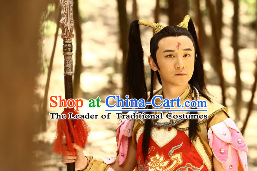 Ancient Chinese Ne Zha Wigs for Men
