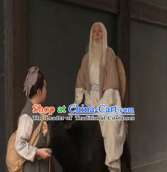Eastern Zhou Dynasty Spring and Autumn Lao Zi TV Drama Film Costume and Wigs Complete Set for Women