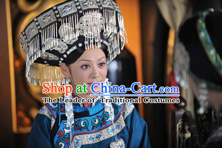 Chinese Eastern Zhou Dynasty Silver Hat for Women