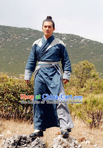 Chinese Costume Five Dynasties Chinese Classic Civilian Costumes National Garment Outfit Clothing Clothes for Men