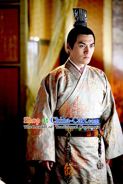 Chinese Costume Five Dynasties Chinese Classic Emperor Costumes National Garment Outfit Clothing Clothes for Men