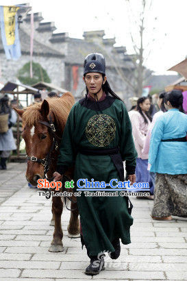 Chinese Costume Sui Dynasty Period Bodyguard Costumes Chinese Clothing Complete Set for Men