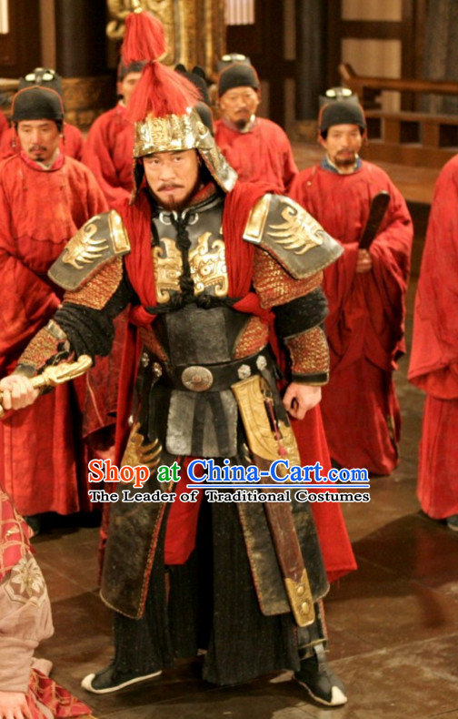 Ancient Chinese Tang Dynasty Duke Official General Chai Shao Knight Costume Complete Set for Men