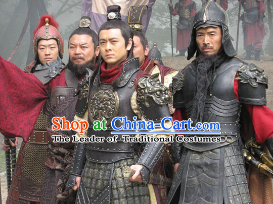 Chinese Tang Dynasty Costumes Most Famous General Wei Chi Gong Body Armor Costume Complete Set for Men