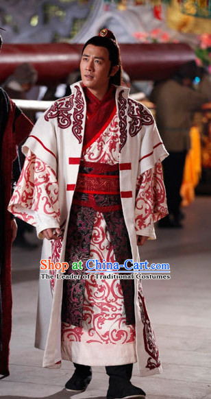 Chinese Tang Dynasty General Li Guangbi Costumes Costume Complete Set for Men