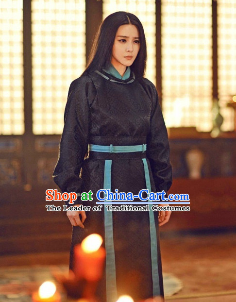 Tang Dynasty Swordswoman Heroine Garment Outfits Clothing Costumes Costume and Hair Accessories Complete Set for Women