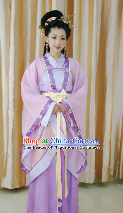 Three Kingdoms Four Greatest Beauties of China Xi Shi Costume Costumes Clothing Clothes Garment Outfits Suits and Hair Jewelry Complete Set for Women