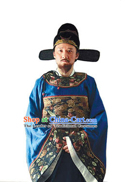 Ming Dynasty Official Hai Rui A Model of Honesty and Integrity in office Costumes Dresses Clothing Clothes Garment Outfits Suits Complete Set for Men