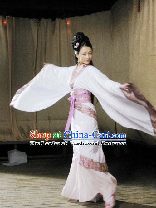 Chinese Han Dynasty Costume Beauty Dance Costumes Dresses Clothing Clothes Garment Outfits Suits Complete Set for Women
