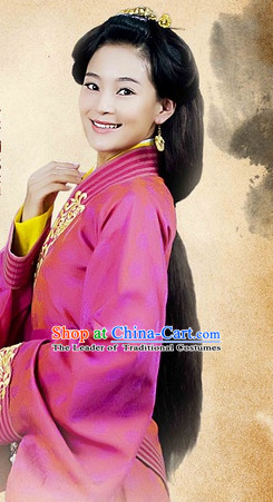 Chinese Qin Dynasty Princess Long Wig for Women