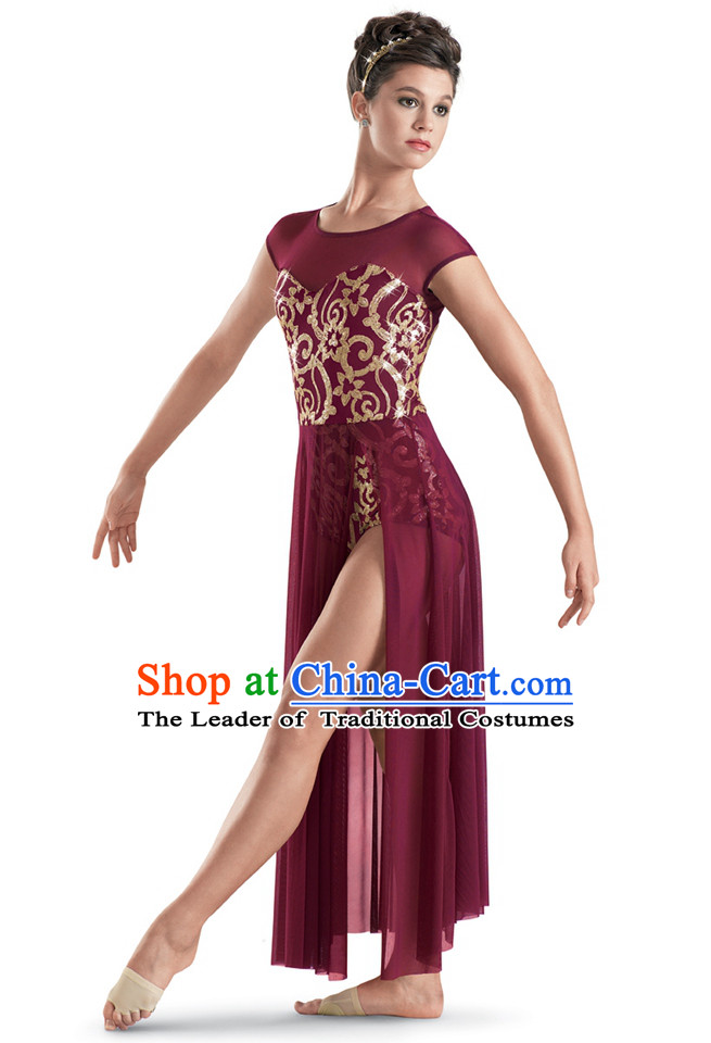 Modern Dance Women Ballet Costumes Dancing Costumes Dancewear Dance Supply Free Custom Tailored Service