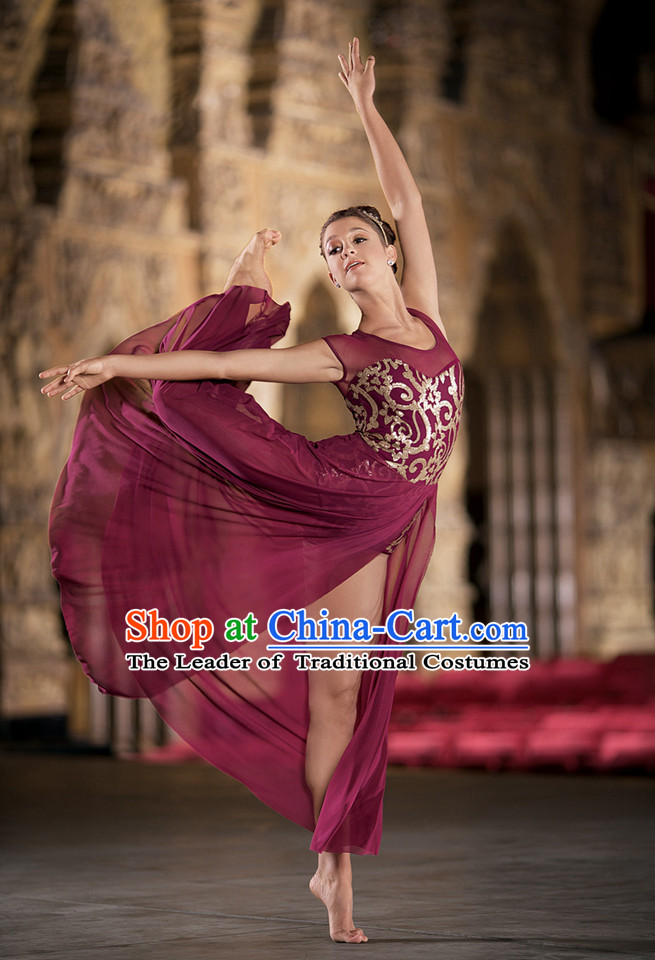 Brown Modern Dance Ballet Costumes Dancing Costumes Dancewear Dance Supply Free Custom Tailored Service for Women