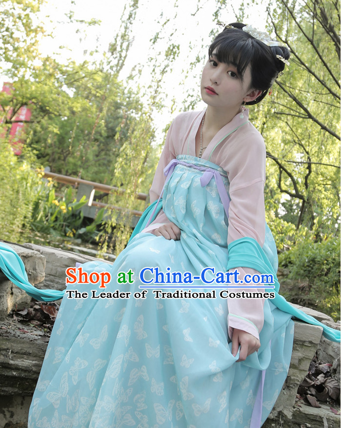 Chinese Costume Tang Dynasty Lady Clothing Free Custom Tailored Service