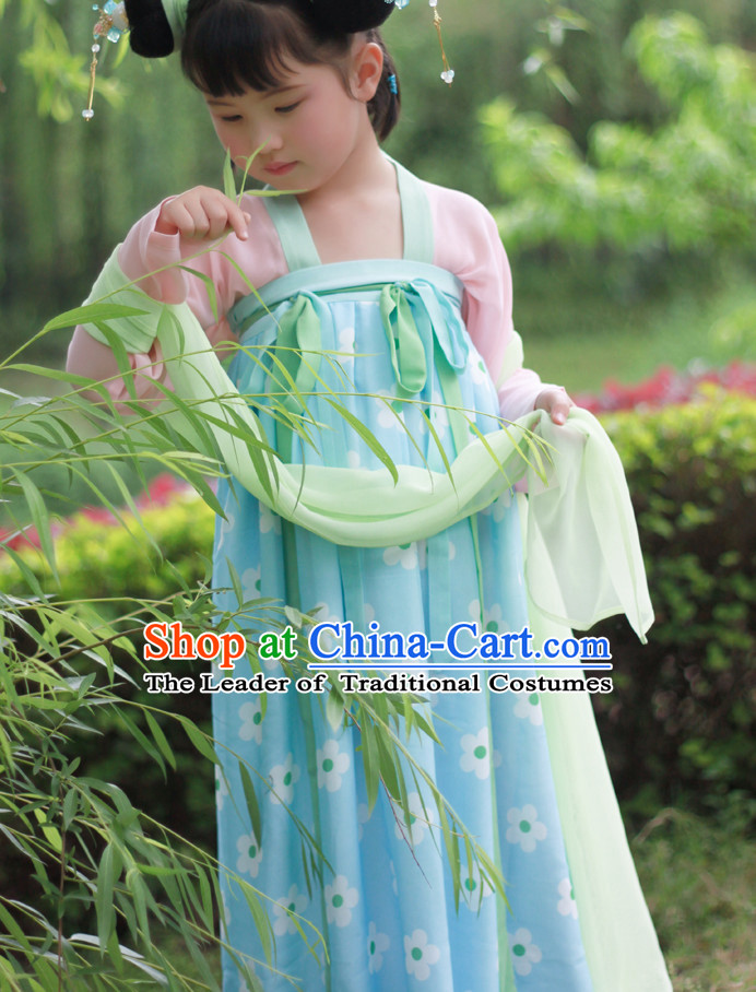 Tang Dynasty Ancient Chinese Kids Clothing Complete Set