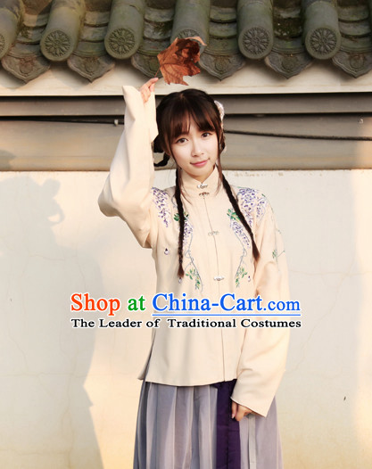 Ancient Chinese Ming Dynasty Women Costumes Kimono Couple Costumes Han Dynasty Wholesale Clothing Dance Costumes Cosplay Mantle Cape