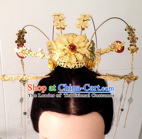 Chinese Ancient Style Crown Headwear Headpieces Hair Jewelry Hairpin for Women