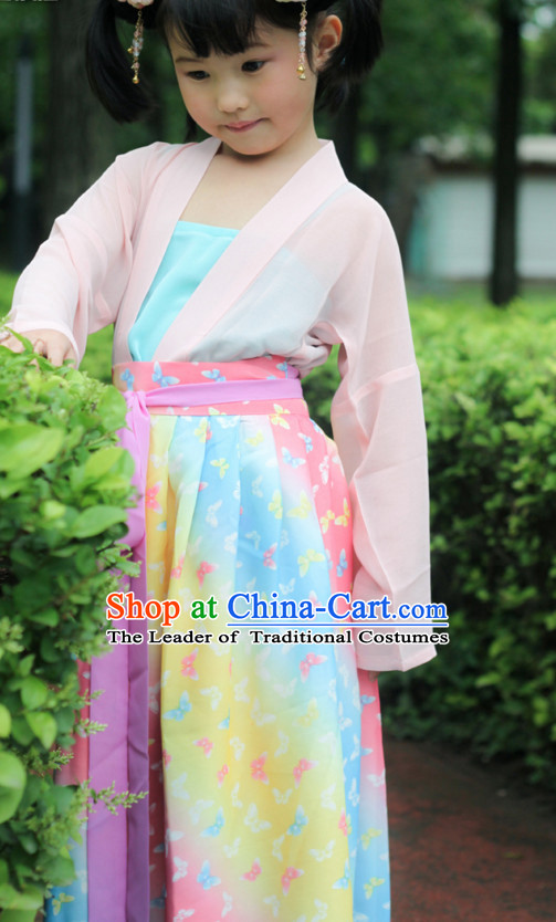 Chinese Costume Chinese Costumes Hanfu Han Dynasty Ancient China Scholar Clothing Dress Garment Suits Clothes Complete Set for Kids