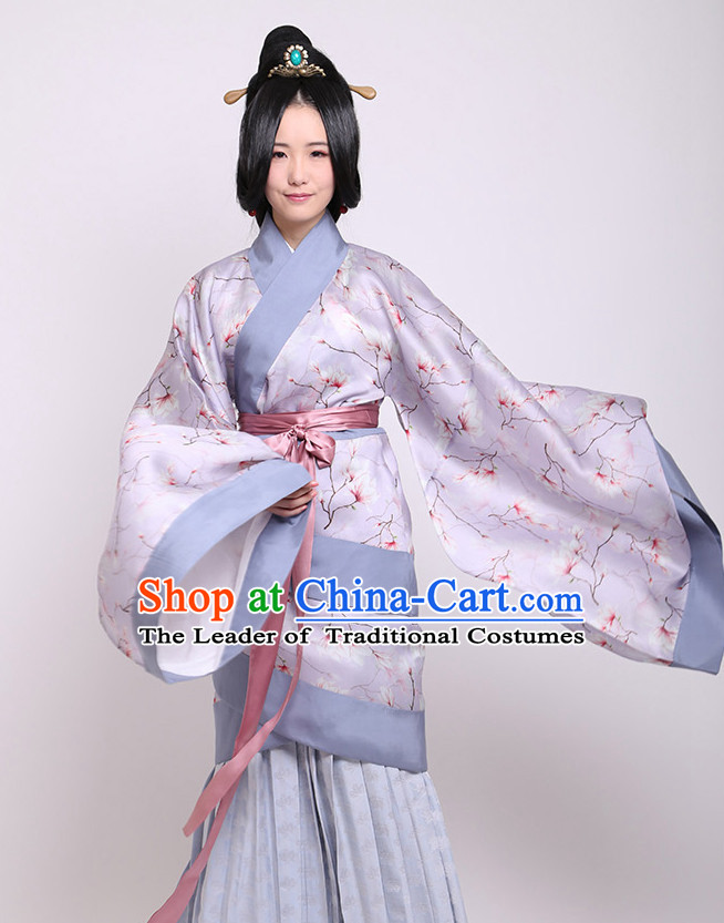 Chinese Costume Chinese Costumes Hanfu Han Dynasty Ancient China Scholar Clothing Dresses Garment Suits Clothes Complete Set for Women