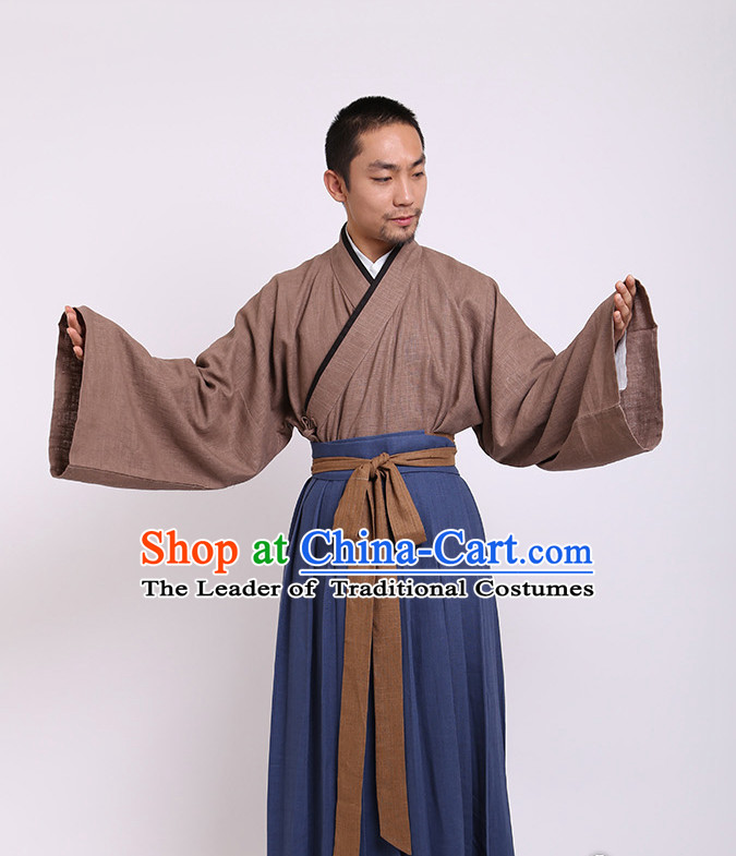 Chinese Costume Chinese Costumes Hanfu Han Dynasty Ancient China Scholar Clothing Dresses Garment Suits Clothes Complete Set for Men