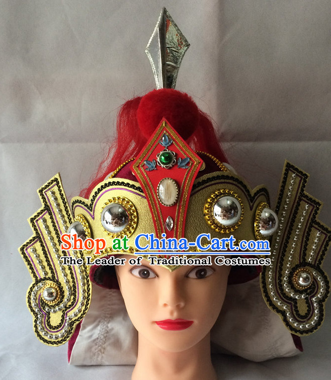 Chinese Opera General Hat Helmet Hat Headwear Headpieces Headdress for Men
