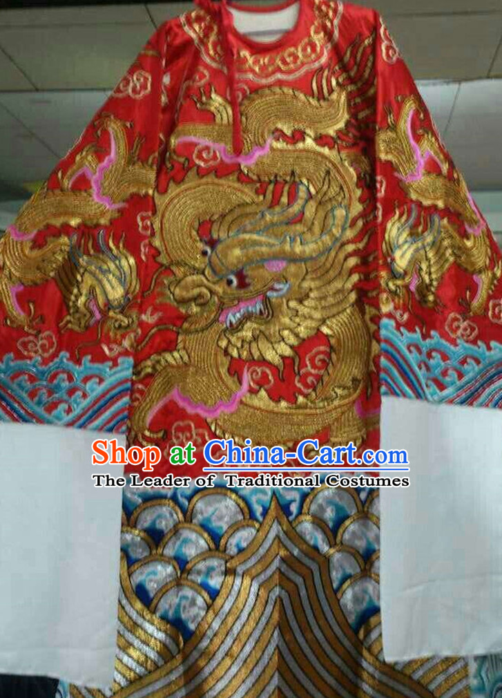 Chinese Opera Classic Dragon Robe Costumes Chinese Costume Dress Wear Outfits Suits for Men