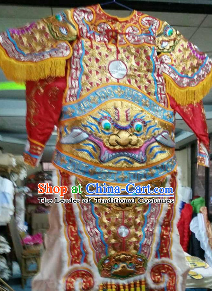 Chinese Opera Classic General Armor Costumes Chinese Costume Dress Wear Outfits Suits for Men