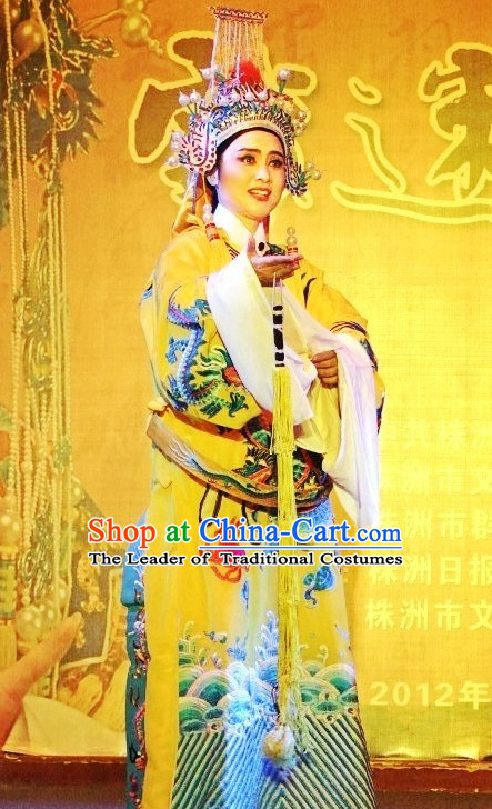 Chinese Opera Classic Water Sleeve Long Sleeves Emperor Costume Dress Wear Outfits Suits for Men