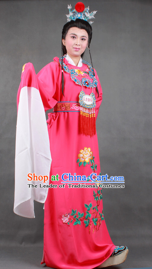 Chinese Opera Classic Water Sleeve Long Sleeves Jia Baoyu Costume Dress Wear Outfits Suits for Men