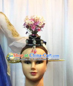 Chinese Dance Apparel Hair Jewelry Asian Fashion Wholesale Stage Performance Headdress Folk Decorations