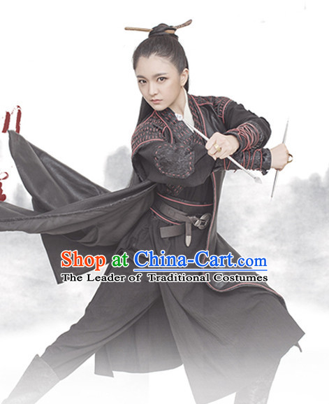 Chinese Han Dynasty Costume Ancient China Swordsmen Costumes Han Fu Dress Wear Outfits Suits Clothing for Women or Men