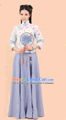 Chinese Minguo Period Female Wedding Costume Ancient China Costumes Han Fu Dress Wear Outfits Suits Clothing for Women