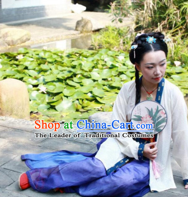 Chinese Song Dynasty Clothes Clothing Costumes and Hair Accessories Complete Set for Men