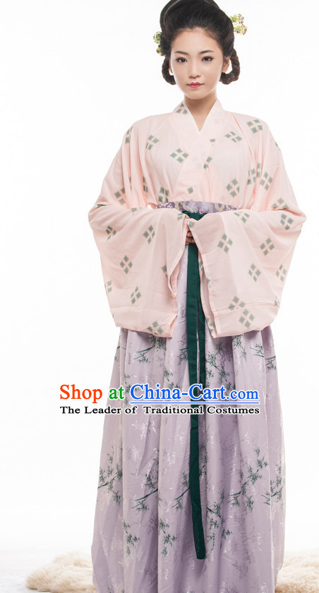 Chinese Ancient Han Dynasty Princess Spring Summer Costume China online Shopping Traditional Costumes Dress Wholesale Asian Culture Fashion Clothing and Hair Accessories for Women